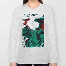 Dreamscape 01 in Green, White & Bronze Long Sleeve T-shirt