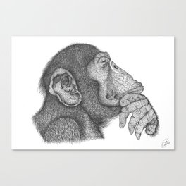 The thinker monkey Canvas Print