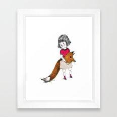 I like wear a Wolf mask, I feel wilder. Framed Art Print