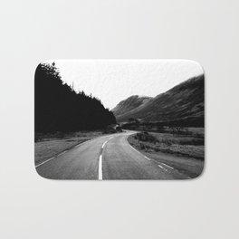 Road through the Glen - B/W Bath Mat