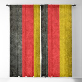 German flag, grungy textures Blackout Curtain