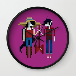 The Vampire Queen and King Wall Clock