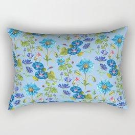 Bluely Flowers - BBG Rectangular Pillow