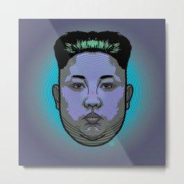 Kim Jong Un Dictator Do (series green1) Metal Print