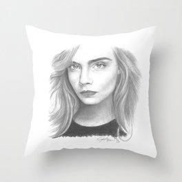 Cara Delevingne Throw Pillow