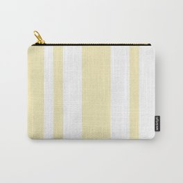 Mixed Vertical Stripes - White and Blond Yellow Carry-All Pouch
