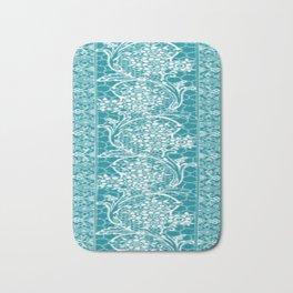 Vintage Lace Turquoise Bath Mat