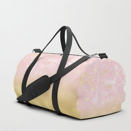 Gold Foil Gradient on Rosegold Marble Duffle Bag