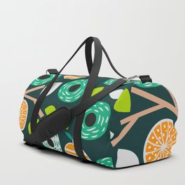 Oranges and flowers Duffle Bag