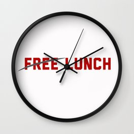 FREE LUNCH 3 Wall Clock