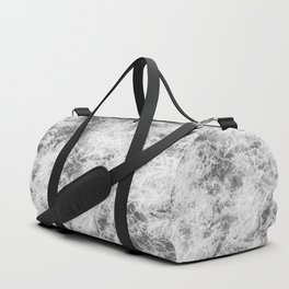 Black and white abstract pattern. waves Duffle Bag