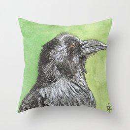 Majestic Raven Throw Pillow