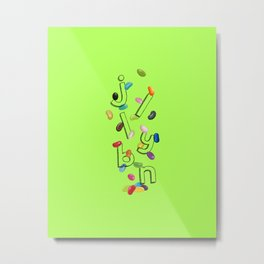 Android Eats: jellybean peg Metal Print