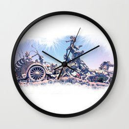 colossal horse statue Wall Clock