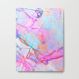 Graffiti Candy Marble Pattern Metal Print