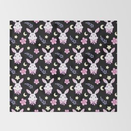 Sakura Bunny Throw Blanket