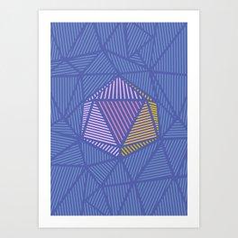 poligon pattern texture Art Print