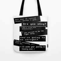 journey Tote Bags featuring Journey by writingoverashes