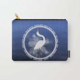 Great Egret Wreath Carry-All Pouch