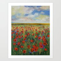 poppies Art Prints featuring Poppies by Michael Creese