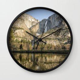 Yosemite Falls on View Wall Clock