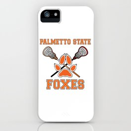Palmetto State Foxes Exy Crest iPhone Case