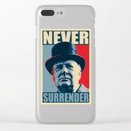Never Surrender Clear iPhone Case