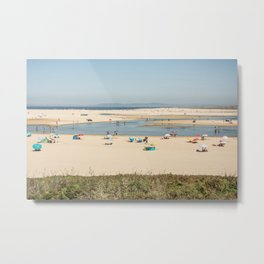 Beach Lagoa de Albufeira Portugal Metal Print