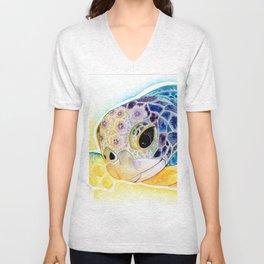 Crystal Turtle Unisex V-Neck