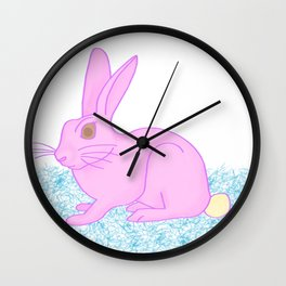 Ice cream rabbit Wall Clock