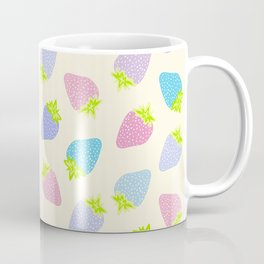 Pastel Strawberries Pattern Coffee Mug