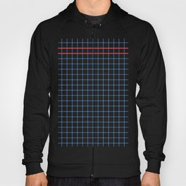 Dotted Grid Boarder Blue Red 2 Hoody