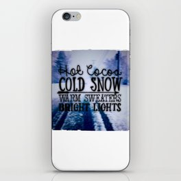 Winter love iPhone Skin