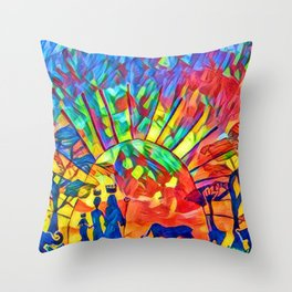 I dream of a new world named Africa. Throw Pillow