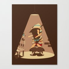 Nosey Interrogation Canvas Print