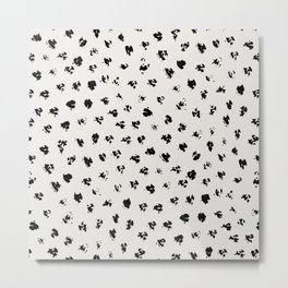 Polka Splotch Metal Print