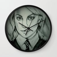 luna lovegood Wall Clocks featuring Luna Lovegood by Rosie Smith