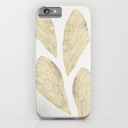 Cicada Wings in Gold iPhone Case