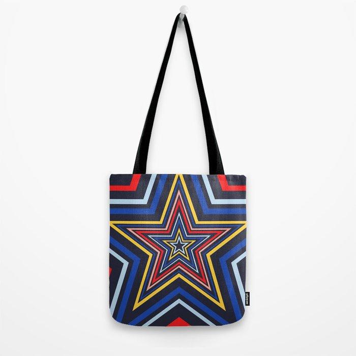 Stars Blue Tote Bag