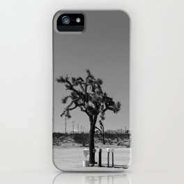 Joshua Tree Mailboxes Black and White iPhone Case