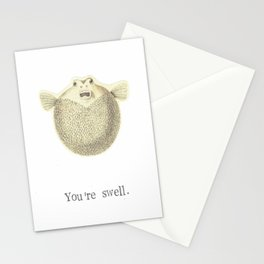 You're Swell Pufferfish Stationery Cards