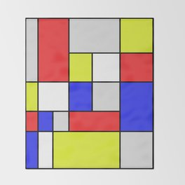 Mondrian #25 Throw Blanket