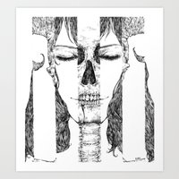 sleeping beauty Art Prints featuring sleeping beauty by Sheryn Ng (rynisyou)