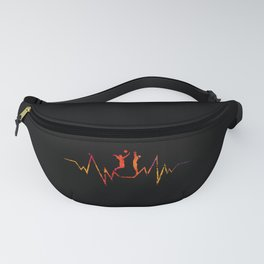 Volleyball Heartbeat Cool Gift for Sport Lovers Premium graphic Fanny Pack