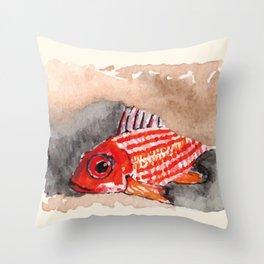 Cirrus/ Cardinal fish Throw Pillow