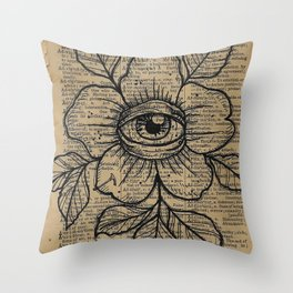 Flower with Eye: Beauty is in the Eye... Throw Pillow