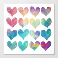A Colorful Kind Of Love  Canvas Print