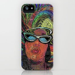 Tiffany in her Rainbow Zone on a Good Friday iPhone Case
