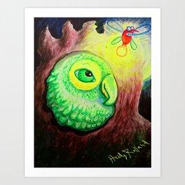 Peep Bird Art Print