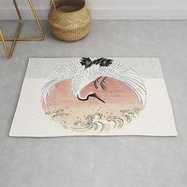 Crane and Wave Rug